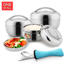 1.3/0.8L Pail Stainless Steel Food storage with handle Food Container insulation Student Bento box Dinnerware Vacuum