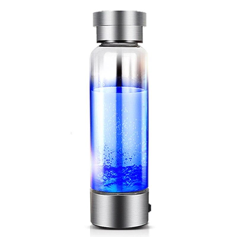 Portátil generador de hidrógeno ionizador de puro H2 rico hidrógeno botella de agua de 350 ml copa de agua USB