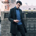 VIISHOW Warm Trench New Coats for Winter Fashion Long Trench Windbreaker Jacket Men's Coat Long Trench Boys Suits F117754