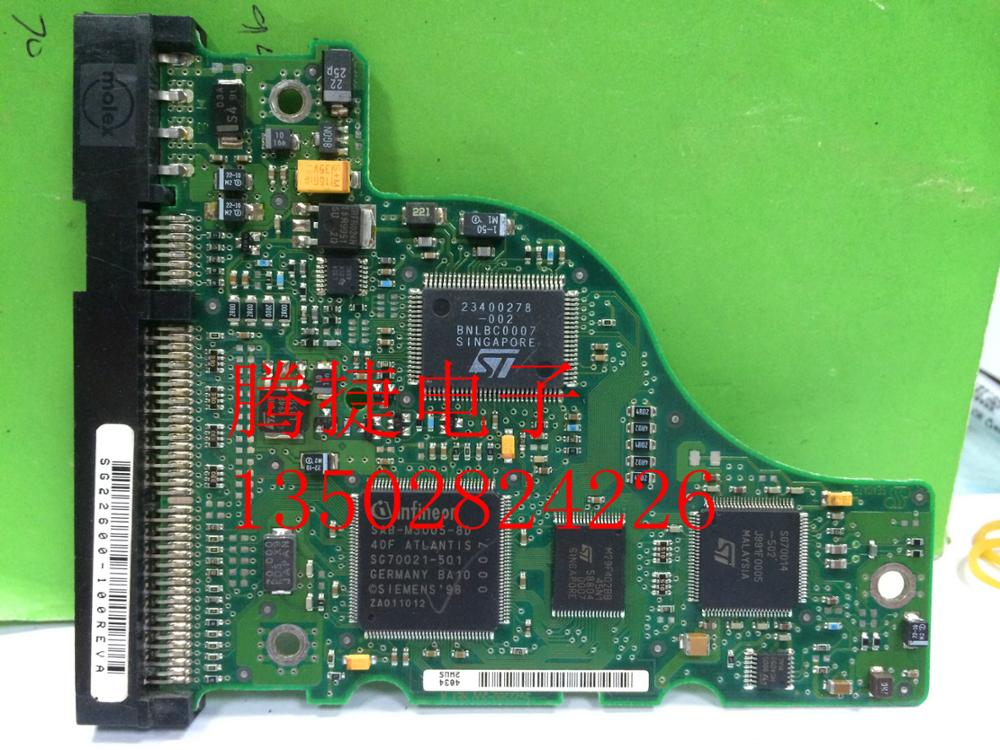 hard drive parts PCB logic board printed circuit board U5 SG22580-300 for Seagate 3.5 IDE/PATA hdd data recovery repair
