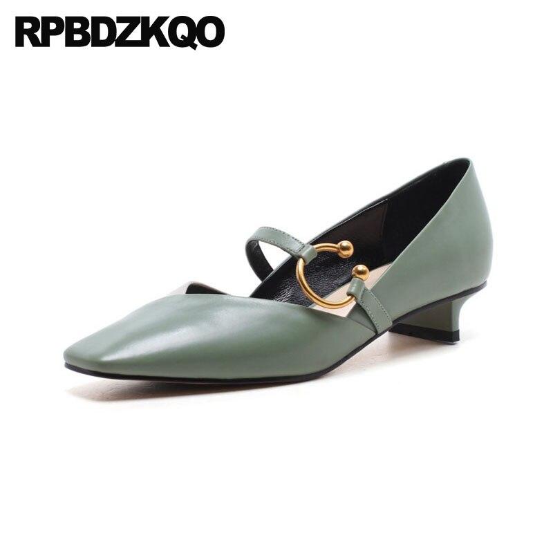 japanese autumn black cute green dress shoes women mary jane size 4 34 2018 kitten strap square toe genuine leather metal 33 перчатки jane green fsa004