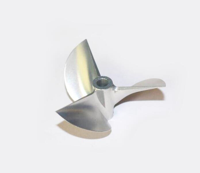 Free Shipping CNC 7075 Aluminium alloy Propeller for RC Gasoline boat Racing O yacht 6917 3 blade Propeller diameter 69mm