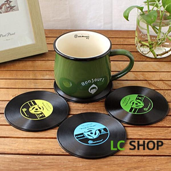 6pcs Vintage Coasters Coffee //Tea// Coaster Cup Mug Mat Mat Rack Holders #B