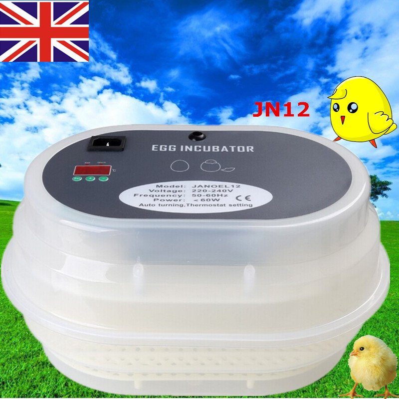 Brand New Digital Poultry Quail Egg Incubator 12 Eggs Duck Egg Incubators Automatic Chicken Incubator free ship to au new sale home automatic egg incubator 56 eggs chicken incubator brooder quail eggs incubators