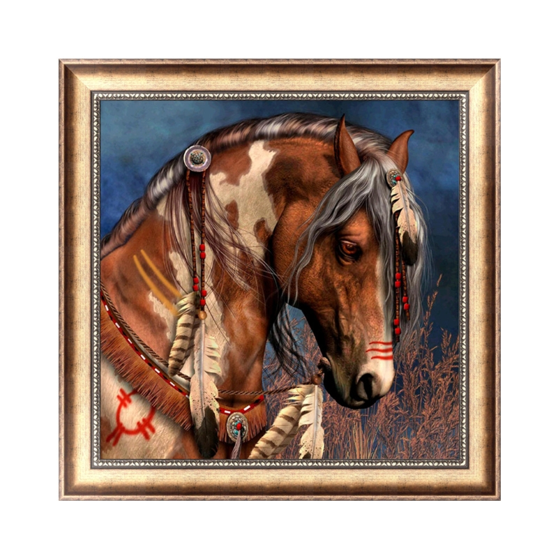 5D DIY Round Diamond Diamant Embroidery Painting Horse Pattern For Picture Rhinestone Cross Stitch Craft Home Decor Gift