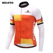 Miloto велосипед Команда Мужчины Велоспорт Джерси с длинным рукавом Осень одежда для велоспорта из полиэстера гоночный велосипед одежда mtb велосипед Джерси