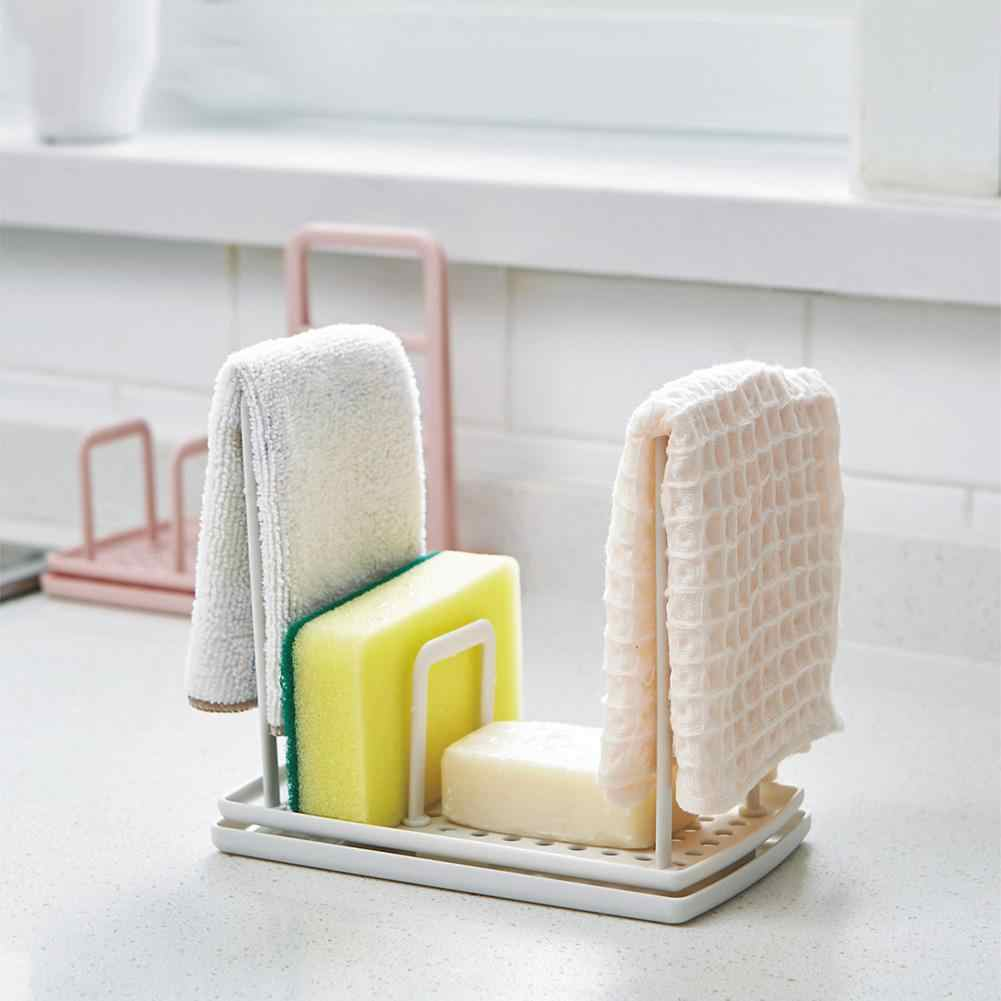 Sponge Cleaning Cloth Organizer Set Bathroom Towel Holder Kitchen Drain Storage Rack