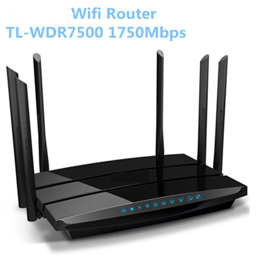 WDR7500 Wifi router 1750 Mbps 11AC Dual Band WIFI roteador TL-WDR7500 V5.0 Archer C7 2 USB Ports Wifi Router roteador repetidor wifi mi router hd version wifi repeater 2533mbps 2 4g 5ghz dual band app control wireless metal body mu mimo