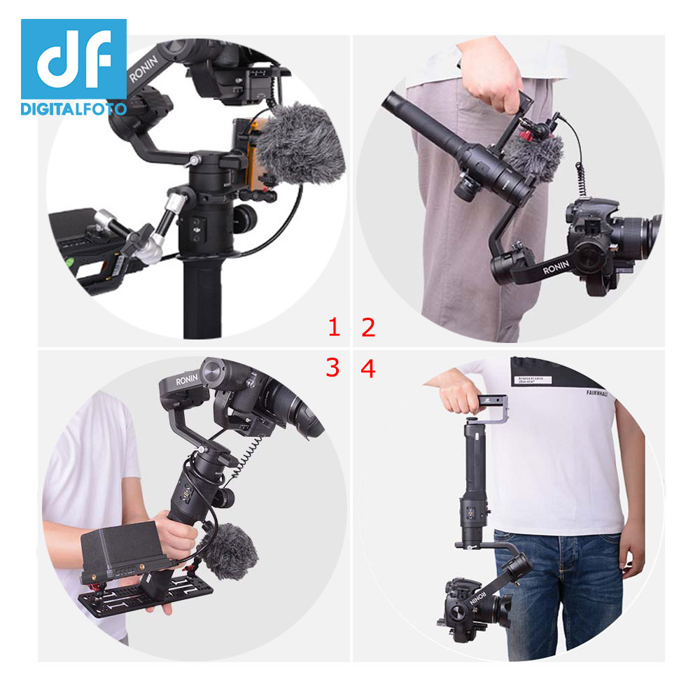 Stabilizer Extension Bracket Arm With Dual Cold Shoe Mount Monitor Mic Led Video Light For Feiyu Ak4000 Ak2000 Moza Mini-mi Air Gimbal Accessories