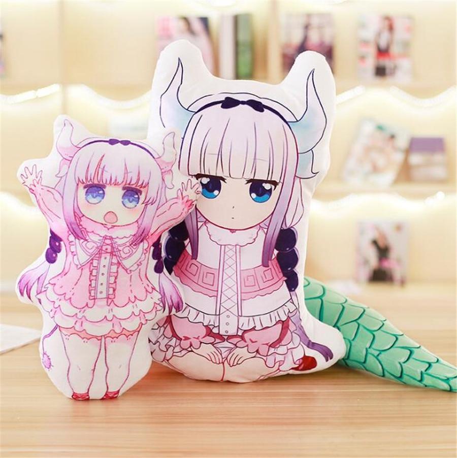 Japan Anime Miss Kobayashi's Dragon Maid Plush Kawaii Pillow Cosplay Toys Kanna Kamui Doll Stuffed Animal Sofa girlfriend Gift