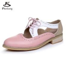 Genuine leather big woman US size 11 designer vintage shoes round toe handmade pink white black