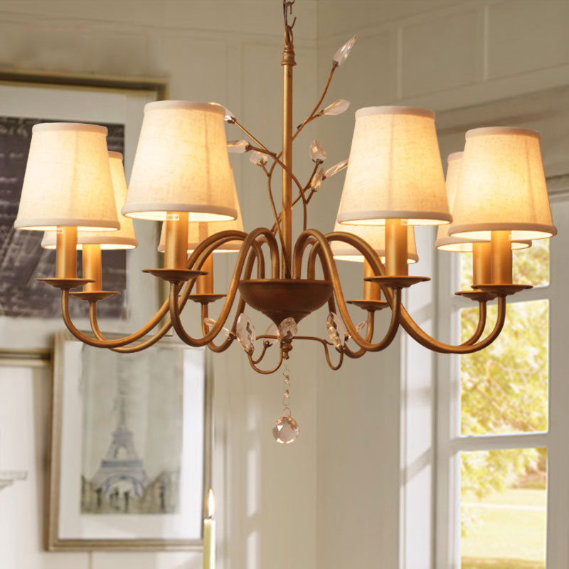 country dining room lighting | American Country Crystal Chandelier Lighting Atmosphere ...