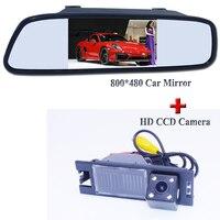 High Resolution 800 480 Glass Lens 170 Degree Camera And 4 3 Mirror Original Car Parking