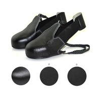 New 1pair/lot Man woman safety shoes real leather steel overshoes woker shoes cover Visitor overshoes toes protection