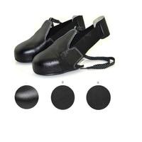 Nouveau 1 paire/lot Homme femme chaussures de sécurité en cuir véritable acier couvre-chaussures woker chaussures couverture Visiteur couvre-chaussures orteils protection