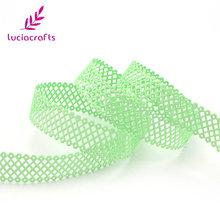 Lucia crafts 2.2cm Multi Color Nets Ribbon Lace Trim DIY Sewing Scrapbooking Handcraft Material Decoration 2y/lot D040051014