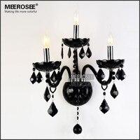 Современный хрустальный настенный кронштейн Бра Лампа ретро черный кристалл настенный светильник стеклянные руки настенный светильник дл