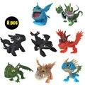 Conjunto completo 8 Pcs Juguetes Como Treinar O Seu Dragão 2 Figuras de ação brinquedos figuras crianças brinquedos dragão desdentado Fúria Da Noite Desdentado