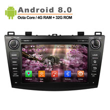 Android 8 0 Octa Core Car DVD Player for MAZDA 3 GPS Audio Radio 1024 600