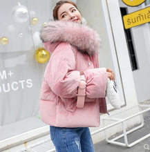 2018 New Autumn Winter Velvet Jacket Women Thickening Warm Outerwear Parkas Female Cotton Padded Loose Coats Hooded Coat Outwear(China)
