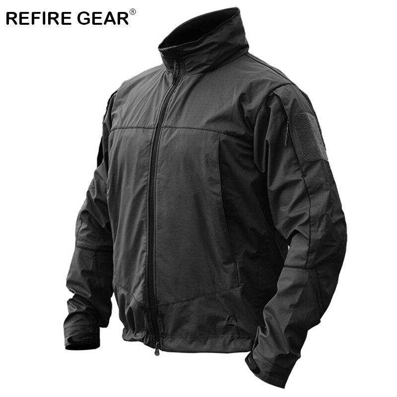 ReFire Gear automne hiver Softshell militaire veste extérieure pour hommes à capuche imperméable randonnée Camping veste tactique armée veste
