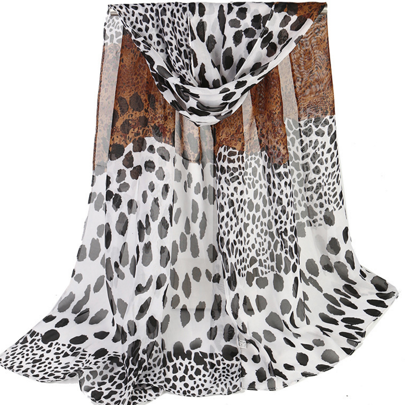 Fashion Women   Scarf   Luxury Brand Leopard Hijab Silk Satin Shawl Scarfs Foulard Head   Scarves     Wraps   2018 NEW 50x155