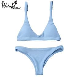 Water princess summer low waisted padded push up new bikini sexy swimsuit bathing suit women blue.jpg 250x250