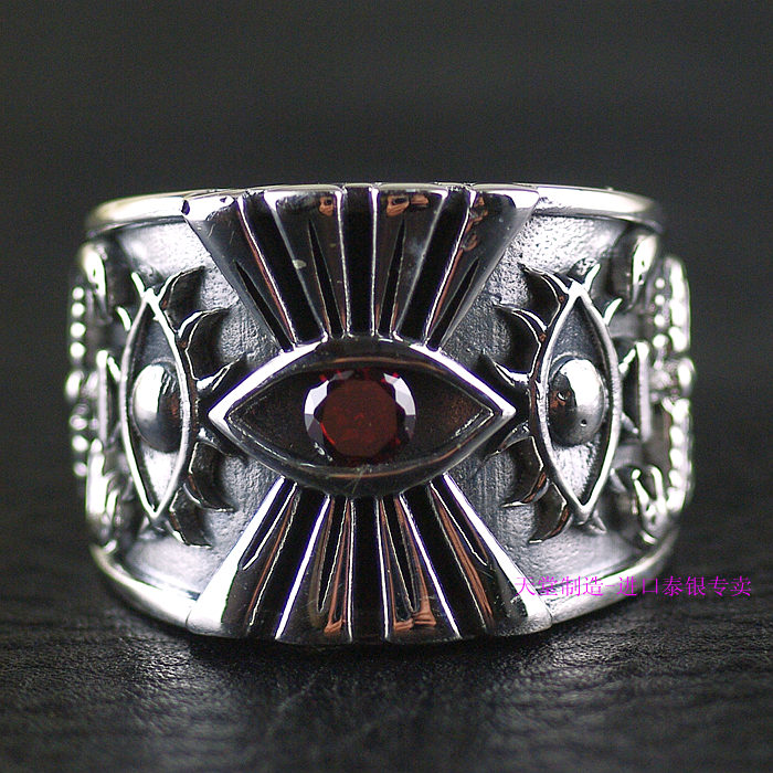 Thailand imports, and men's section 925 Sterling Silver Ring Silver Eye