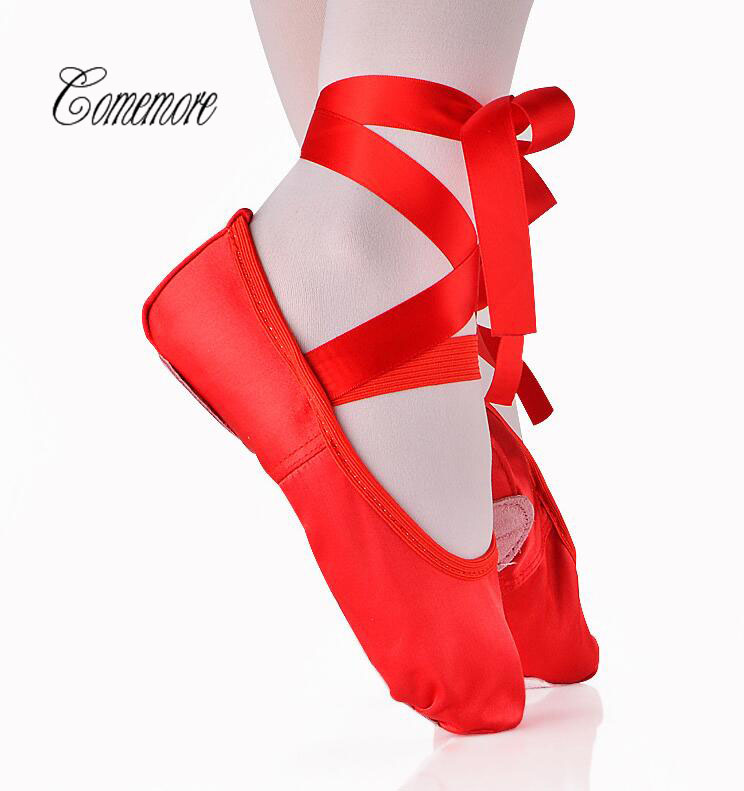 Comemore 2019 Child And Adult Ballet Pointe Shoes Ladies Professional Ballet Shoes With Ribbons Shoes Woman Dance Shoes