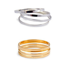 Polished Copper Rings Golden Silver Rose Gold Metallic Thin Midi Rings for Women Wearing(China)