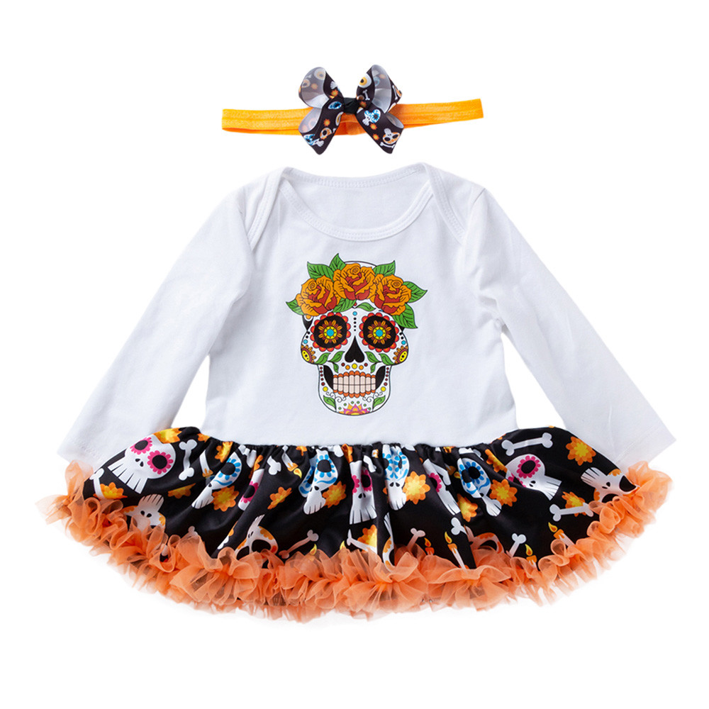 Baby Set Halloween Newborn Infant Baby Girls Dress Romper Jumpsuit Dresses Outfits Baby Clothes Girl 0 24m baby girl clothes summer rompers newborn baby girl print romper jumpsuit infant headband clothes outfits set