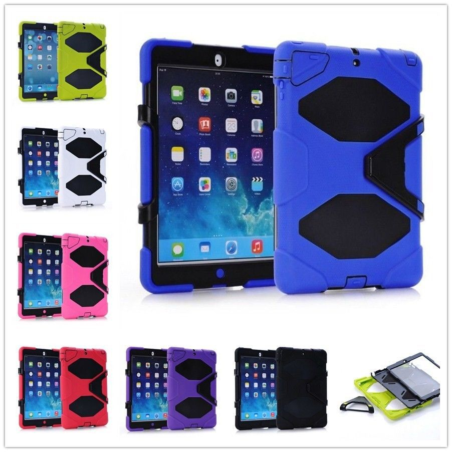 Built-inTouch Screen Protector Rugged Heavy Duty Case for apple ipad 2 3 4 Shockproof Droproof Cover Case with Kickstand case for apple ipad pro plus 12 9 tablet heavy duty rugged impact hybrid case kickstand protective cover for ipad pro 12 9