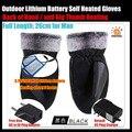 Men 's 3.7 V / 2000 MAH guantes de calefacción eléctrica, batería de litio al aire auto calentado guantes, espalda de la mano y pulgar calefacción 3 h, ee.uu. y la ue Plug