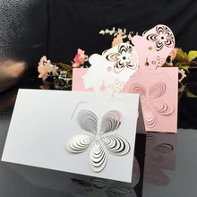 Новая поставка 100 шт/партия лазерная бумага вырезанная голова шаблон эскорт место карты вечерние настольные сиденья имя вечерние события Свадебные украшения