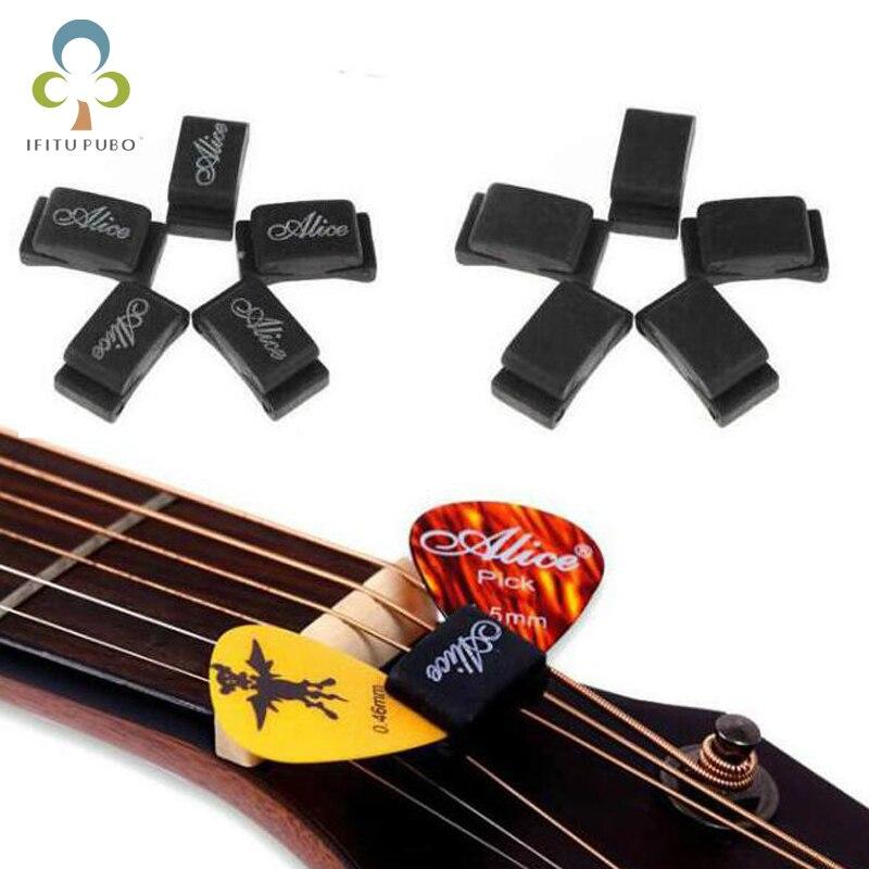 buy 10pcs wholesale rubber guitar pick holder fix on headstock guitar bass. Black Bedroom Furniture Sets. Home Design Ideas