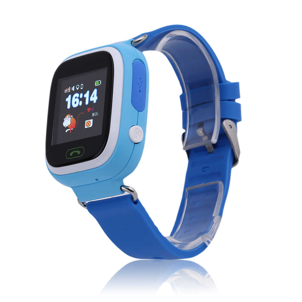 Q90 Children Touch Screen Smart Watches GPS Positioning Phone Call WiFi Anti Fall Off Waterproof Wristwatch for Girls Boys