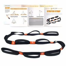 "PROCIRCLE Yoga Stretch Tail - 1.6 ""width - Yoga Strap with Multi Grip Loops - Ideal untuk Hot Yoga, Physical Therapy"
