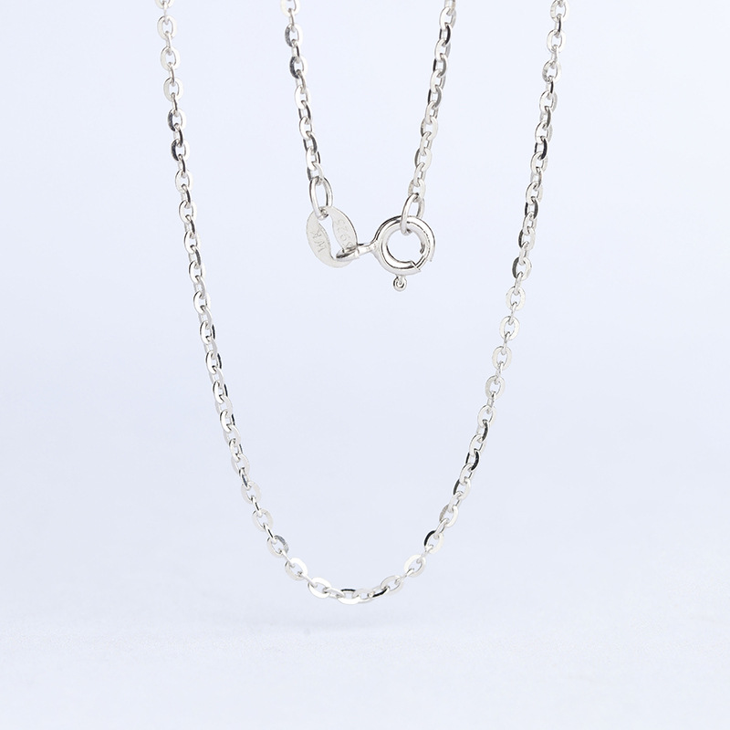 Тонкий кабель 0,8 мм толщина 925 пробы Серебряная цепочка Ожерелье 45 см и 40 см длина белый/желтый/розовое золото цвет