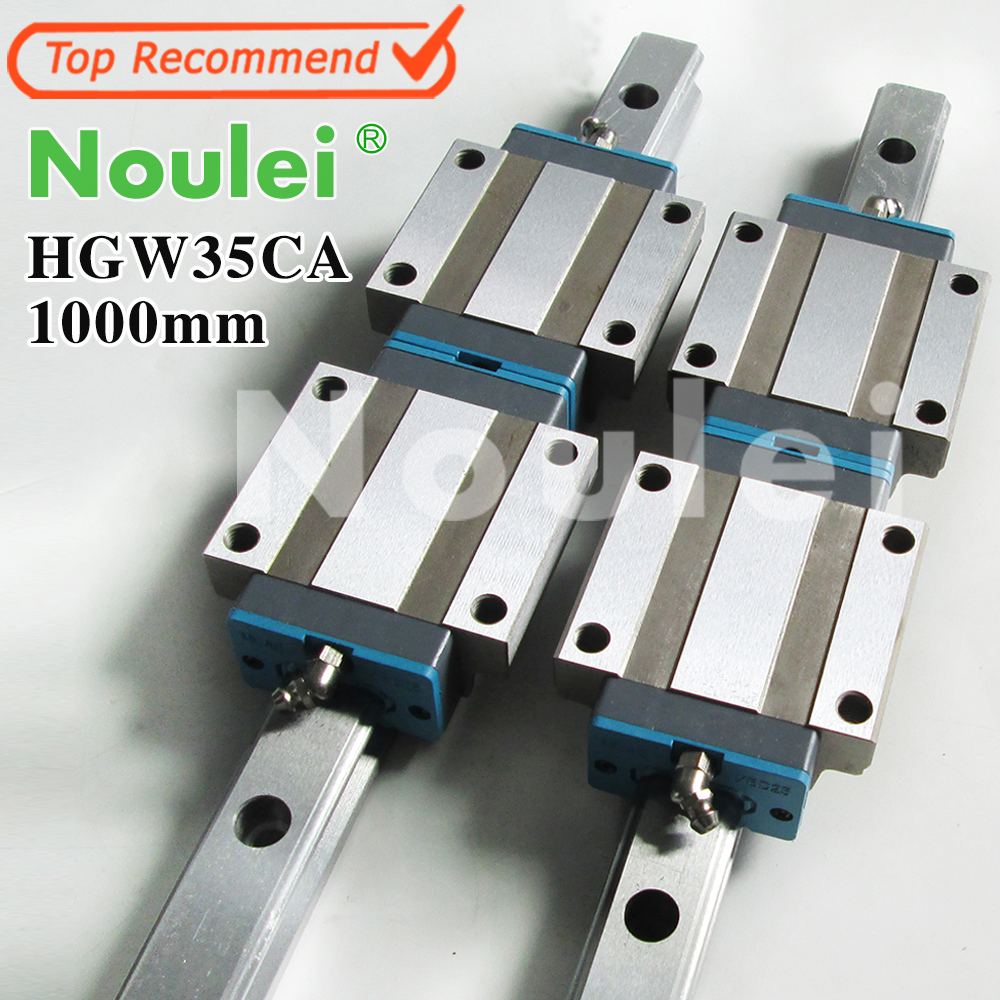 Noulei HGW35CA linear slider with HG35 1000mm guide rail 35mm set for CNC machine parts High quality SELF-OWNED BRAND