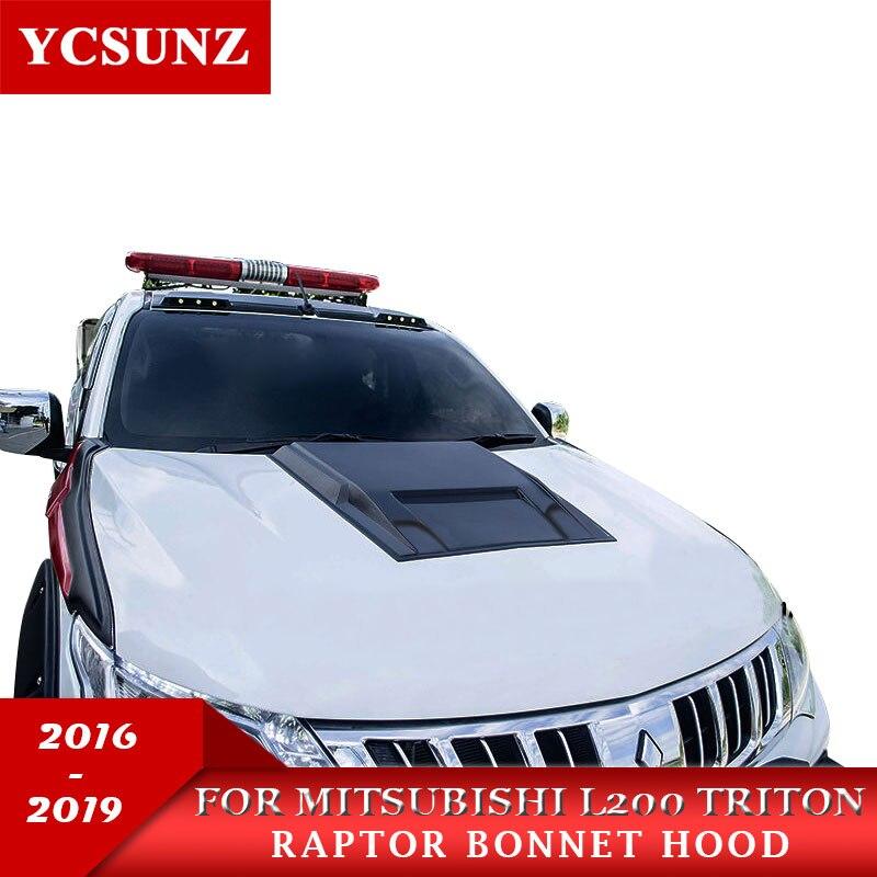 2016-2019 Black Bonnet Scoops For Mitsubishi L200 Triton 2016-2019 Parts For Mitsubishi Accessories   2016 2017 2018 2019 YCSUNZ