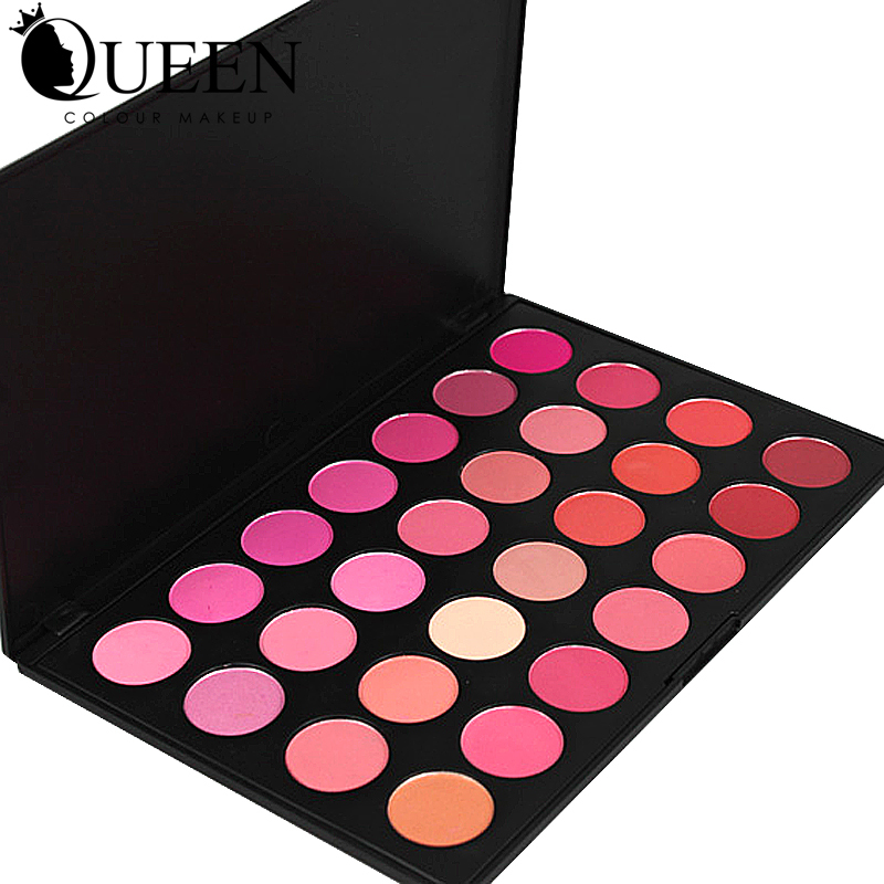 QUEEN Brand 28 Colors Professional Blush Palette font b Makeup b font Rouge in Bronzers and