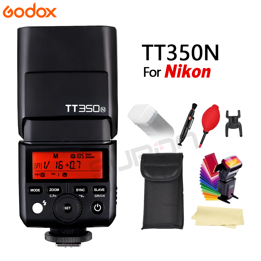 Godox TTL TT350 GN36 w/ 2.4G Wirless Speedlite Flash Light + Gifts For Nikon camera D800, D700, D7, 100 D7000 D5200 D5100 D5000 lowell настенные часы lowell 11809g коллекция glass