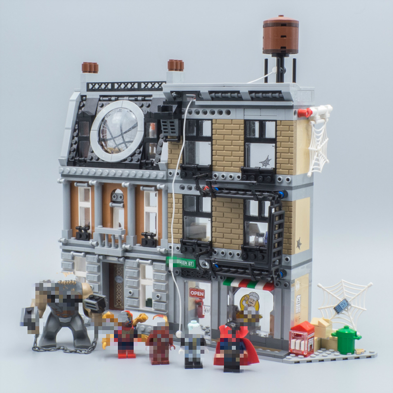07107 1125pcs Marvel Super Heroes The Sanctum Sanctorum Showdown Building Blocks Toys for Children Birthday Gift Legoing 76108 sanctum