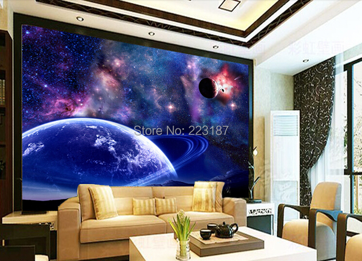 Large murals 3D custom wallpaper decorative kids room cafe bar wall decor ceiling fresco photo hd universe of stars night sky 1897art large murals3d can be custom made furniture decorative wallpaper house ornamentation decor wall stickers chinese style