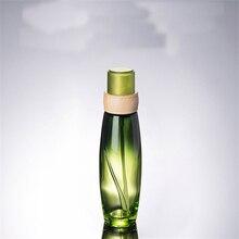 1 stücke 100ML lotion Lagerung flasche Grün glas serie kosmetische lotion flasche Lotion flasche verpackung leere flasche BQ011