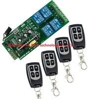315 433MHZ 4CH 85V 280V Wide Range Output RF Wireless Remote Control System 220V Remote Power