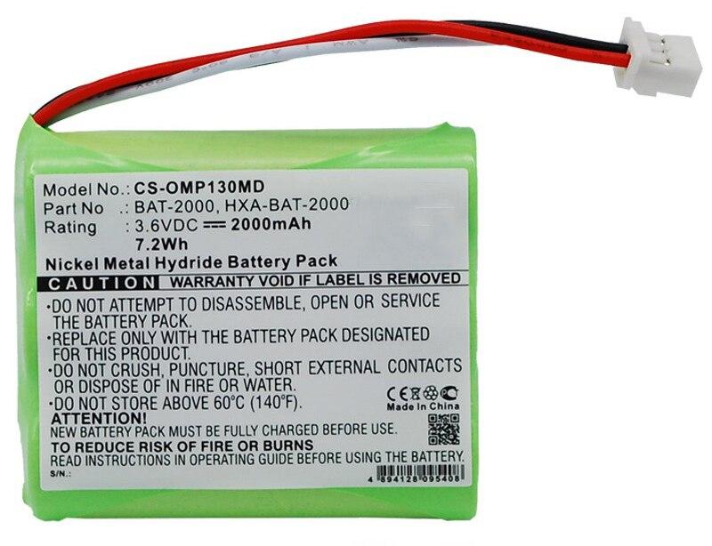 2000mAH New Sphygmomanometer battery for Omron HBP-1300 BAT-2000 BP-1300 HXA-BAT-2000 тонометр omron hbp 1300