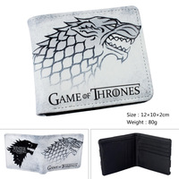 2016 Game Of Thrones Wolf White Purse Billfold Short Leather Slim Money Bag Student Wallets