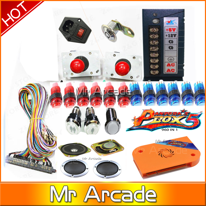 2018 new arrival pandora box 5 jamma arcade ame box 960 in 1  arcade bundle for cabinet
