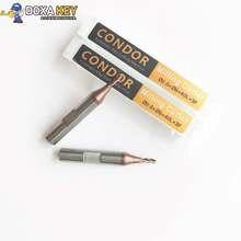 Xhorse Condor XC Мини автоматический копировально-фрезерный станок для обработки замочных ключей Концевая фреза 2.0x6x40x3F Карбид сверло